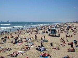 A Sunny Day on Huntington Beach