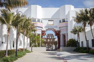 A view of the Civic Center in Oceanside, California