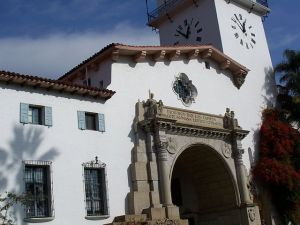 Santa Barbara-County Courthouse by Eugene Zelenko (own work) , from Wikimedia Commons
