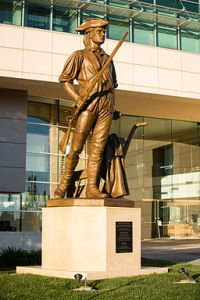 How ironic that the sculpture in front of City Hall is of the Milpitas Minuteman, supposedly representing freedom of the people from a tyrannical government. Photo By David Alan Clark (Own work) [CC BY-SA 4.0 (http://creativecommons.org/licenses/by-sa/4.0)], via Wikimedia Commons